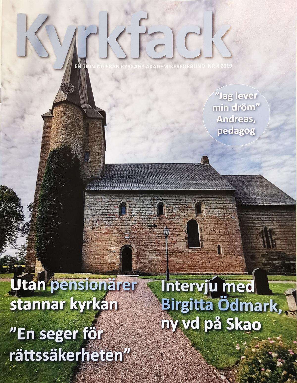 Kyrkfack medlemstidning Kyrkfack